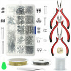 Earring Jewellery Making Kit Wire Findings Pliers Starter Tool Necklace Repair
