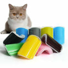 Pet Cat Dog Wall Corner Massage Self Groomer Rubber Comb Brush Cleaner Tool Toy