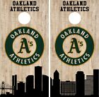 Oakland Athletics Cornhole Wrap MLB Game City Skyline Skin Vinyl Decal CO933 on Ebay