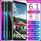 "Nowa5 Unlocked Smart Phone 6.1"" 8+128gb Android 9.1 Full Screen Mobile Phone Us"