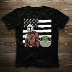 Baby Yoda Boba Feet Star Wars Movie American Flag Funny Nice Gift T-shirt $23.99 USD on eBay