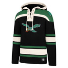 Philadelphia Eagles 47 Brand Mens Black Lacer Hooded Jersey Sweatshirt
