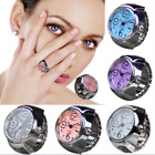 Charm Rings Watch Round Dial Quartz Analog Creative Elastic Finger Ring Watches image