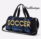 NWT Justice Girl Soccer Flip Sequin Duffle Bag Tote Bag Blue Gold Christmas Gift