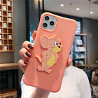 3D Cute Tom&Jerry Holder Soft Phone Case Cover For iPhone11ProMax  6s 8Plus XR