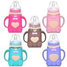 Cute 240ml Baby Silicone Milk Feeding Bottle Free Safe Infant New 5 Colors