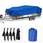 Heavy Duty Trailerable Pontoon Boat Cover Waterproof Weather Resistant 17-24FT