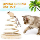 FE66 Small Fish Funny Cat Toy Spring Cat Toy Bottom Sucker Kitten Sturdy