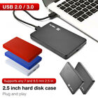 """USB3.0/2.0 2.5"""" SATA HDD SSD Enclosure Mobile Hard Disk Case Box for Laptop Sanw"""