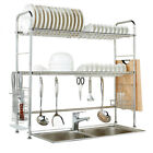11 Model Stainless Kitchen Dish Rack Over Sink Shelf Organizer Cutlery Holder US