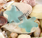 PICK COLOR 1pc 32mm Starfish Top drilled Pendant Sea Glass frosted Bead recycled