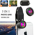 5 in1 Fish Eye+ Wide Angle + Macro Camera Clip-on Lens for Universal Cell Phone
