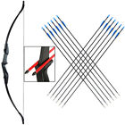 "30/40lbs Takedown Recurve Bow and Arrows Set Hunting Right/Left Hand 57"" Longbow"