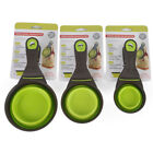 Foldable Silicone Pet Dog Sealing Clip Collapsible Measuring Cup Food Scoop UK