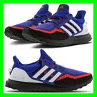 adidas Ultraboost Mens Size 7-12.5 Trainers Black Blue Red Fabric Sneaker Shoes