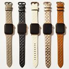 Leather Modern Style Design Band for Apple Watch Series 5, 4, 3, 2, 1   image