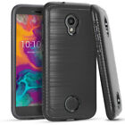 For Coolpad LEGACY S - Hard Hybrid Armor Impact Brushed Metal Skin Case Cover