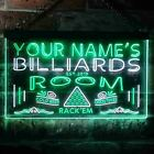 Personalized Name Est Year Billiards Room Garage Dual Color LED Sign st6-pj1-tm $147.99 USD on eBay