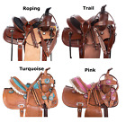 Western Horse Pony Saddle-Barrel Trail Youth-Kids Leather 10 12 13 14 Tack