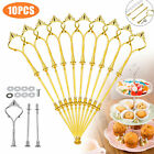 3 Tier Cake Cupcake Plate Stand Handle Hardware Fitting Holder Gold Crown Party