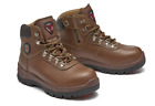 Safety Shoes Sneakers F-16 Brown Work Boots Steel Toe Zip US 5-12 Made in Korea