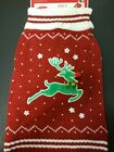 NWT ~ Red REINDEER Holiday Christmas Dog Ugly Sweater w/ Bells