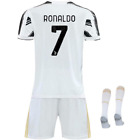 NEW 19-20 Juventus Cristiano RONALDO Home Kids Soccer Jersey Shorts Youth Sizes