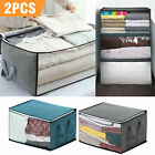 Foldable Storage Bag Clothes Blankets Quilt Closet Sweater Container Box.Blanket
