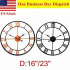 16/23 Wall Clock Antique Large Decorative Silent Battery Operated Home Garden