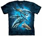 The Mountain Shark Collage Youth T-Shirt Fish Blue