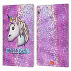 OFFICIAL emoji® SPARKLES AND PASTELS LEATHER BOOK CASE FOR HUAWEI XIAOMI TABLET