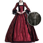 Elegant Womens Medieval Renaissance Fancy Dress Up Cosplay Party Costume S-3XL