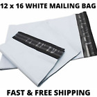 12 X 16' White Mailing Postage Bags Post Mail Postal Bags Parcel Bags Self Seal