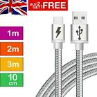 'Fast Charger Usb Braided Data Charging Lead Cable For Iphone 12 5 6s 7 8 11 Xr X