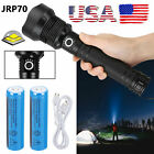99000 Lumens Zoomable XHP70 LED USB Rechargeable Flashlight Torch Super Bright
