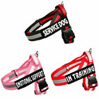Pet Dog Reflective Harness Nylon No Pull Training Vest with 2 Removable Patches