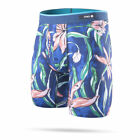 "Stance Underwear ""Plumeria Wave"" Boxer Brief (Blue) Men's Boxers Briefs"