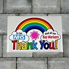 Rainbow Window / Wall Sticker Thank You NHS Charity Car Shop Home Decal - B