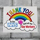 Rainbow Window / Wall Sticker Thank You Nhs And Key Workers Charity Decal - C