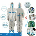 US REUSABLE COVERALL SAFETY CLOTHING BREATHABLE PROTECTIVE OVERALL SUIT CLOTHES