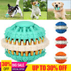 Pet Dog Rubber Gear Chew Toy Teeth Brush Cleaning Leakage Food Ball Interactive