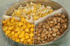 Gourmet Popcorn Gift Tin - Caramel Coated, Cheddar Cheese & Buttery flavor