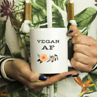 Vegan AF Mug - Vegan White 11oz Mug | Vegan Coffee Mug | Vegan Tea Mug | Funny V