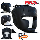 MRX Black Boxing Headgear head Guard MMA Kickboxing Training Protective Gear