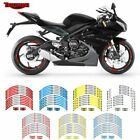 17 inch Motorcycle Wheel Rim Decals Tape Stripes Stickers For TRIUMPH $21.19 CAD on eBay