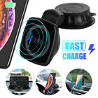 Magnet Qi Wireless QC3.0 Car Fast Charger Phone Holder Mount For iPhone Samsung