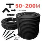 SPECIAL SET /// POROUS PIPE Soaker Hose Leaky Garden Irrigation System__50m~200m