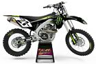 NEW DIRTX INDUSTRIES COMPLETE GRAPHICS 4 MONSTER KAWASAKI KX 85 100 125 250 450