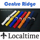 Centre Ridge Rubber Smooth Silicone Scuba Diver Watch Straps, 7 Colours, 18-30mm