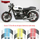 12PCS Wheel Decals Motorcycle front & Rear Edge Outer Rim Sticker For TRIUMPH $19.31 CAD on eBay
